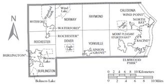 Racine County, Wisconsin - Map of Racine County, with municipal boundaries