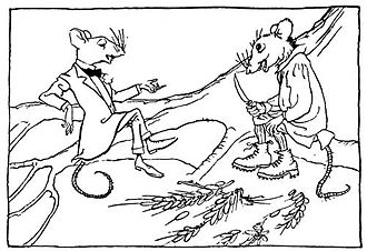 The Town Mouse and the Country Mouse - Aesops Fables (1912), illustrated by Arthur Rackham.