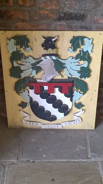 Ordsall Hall - Coat of arms of the Radclyffe family, awarded to Sir John Radclyffe in the 1340s