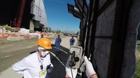 File:Radiation shielding for workers at the Chernobyl New Safe Confinement.webm