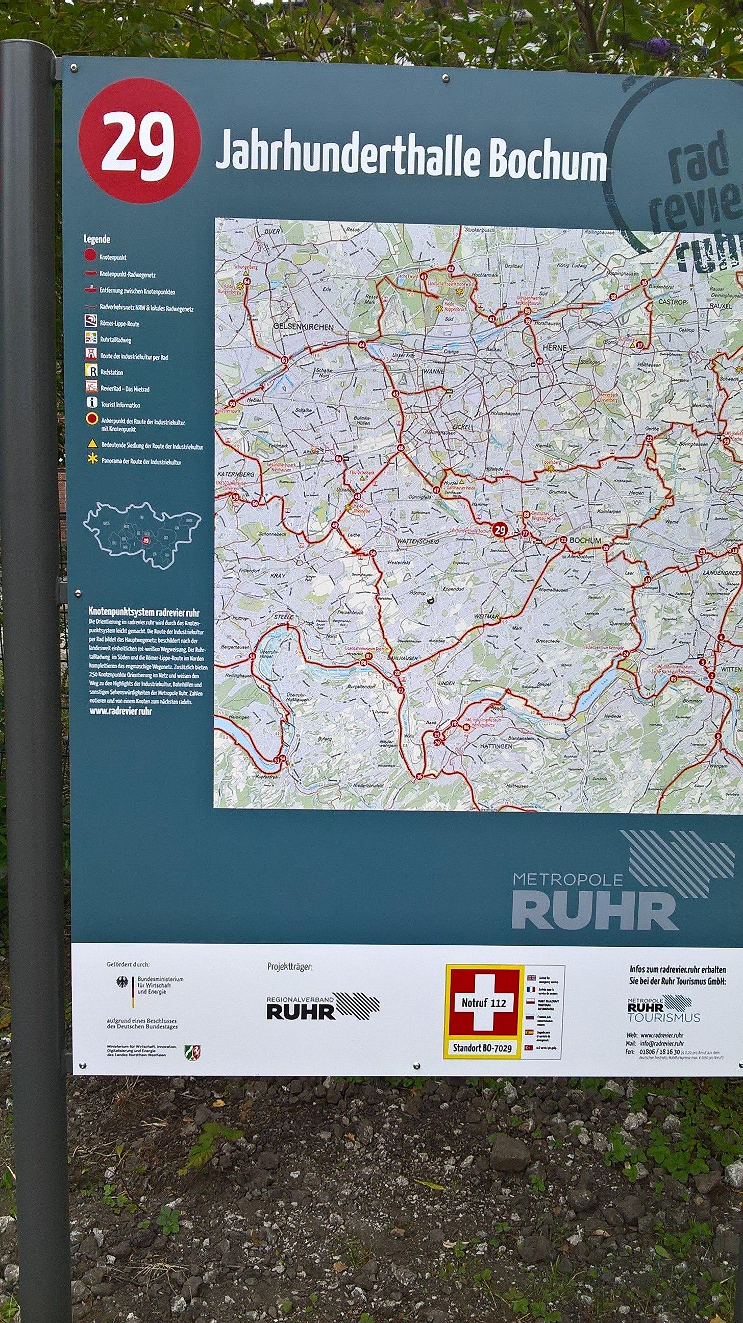 File Radrevier Ruhr Knotenpunkt 29 Jahrhunderthalle Bochum Karte