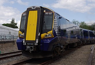 British Rail Class 380 - First ScotRail 380007 at Railfest 2012