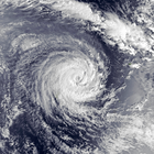 Satellite image of Severe Tropical Cyclone Raja