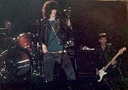 Joey Ramone and Dee Dee Ramone in concert, 1983