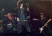 Joey Ramone and Dee Dee Ramone in concert, 1983