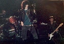 Ramones durante show em 1983.