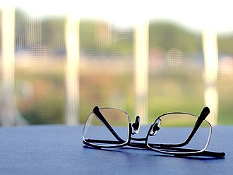 Corrective lens - Typical pair of single vision glasses