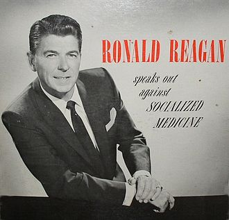 Operation Coffee Cup - The cover of Ronald Reagan Speaks Out Against Socialized Medicine