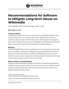 Recommendations for Software to Mitigate Long-term Abuse on Wikimedia, full report, March 1 2019.pdf