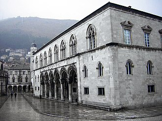 Rector's Palace, Dubrovnik - The Rector's Palace and behind it the Sponza Palace