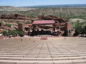 The Amazing Race 9 - The ninth Amazing Race was started and ended at the Red Rocks Amphitheatre outside  Denver, Colorado.
