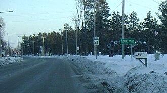 Redgranite, Wisconsin - Image: Redgranite sign
