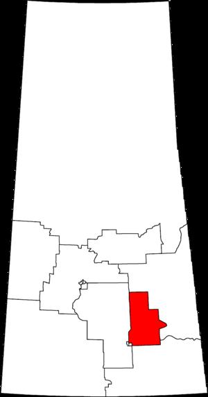 Regina—Qu'Appelle - Regina–Qu'Appelle in relation to other Saskatchewan federal electoral districts as of the 2013 Representation Order.