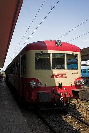 Regiotrans - a typical Regiotrans diesel unit in Arad