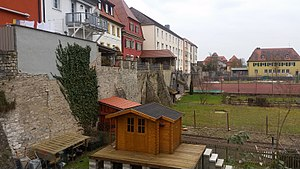 Volkach - Image: Remnants of western town wall