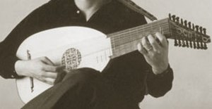 James Tyler (musician) - Renaissance lute (holding position)