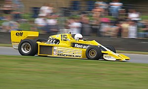 René Arnoux - An ex-Jabouille Renault RS01 of 1979 being demonstrated by René Arnoux in 2007.