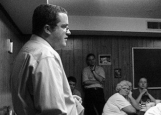 Barack Obama citizenship conspiracy theories - TNGA Rep. Matthew Hill speaking during 2008 Republican primary debate, Jonesborough, Tennessee