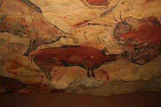 "Cave of Altamira - Reproduction of cave of Altamira in ""Deutsches Museum"", Munich."