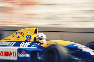 Riccardo Patrese - Patrese in the Williams FW14B at the Monaco Grand Prix.