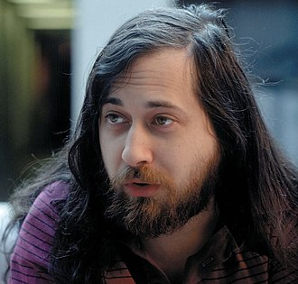 Free software movement - Richard Stallman circa 2002, founder of the GNU Project and the free software movement.