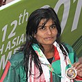 Ridmi Rankothge won Silver Medal n the Women's swimming 200m Butterfly category, at the 12th South Asian Games-2016, in Guwahati (cropped).jpg