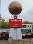Rio Tinto Stadium sign, Apr 16.jpg