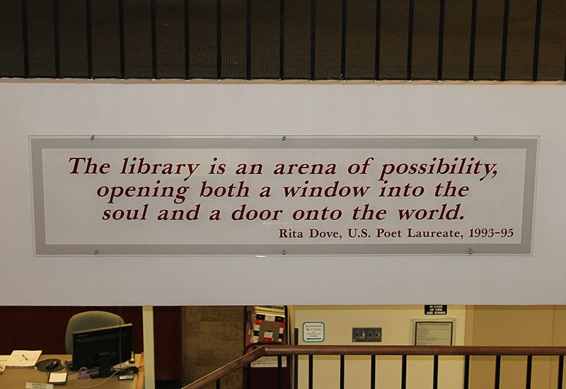 Rita Dove%27s definition of a library, Augusta, ME IMG 2038.JPG