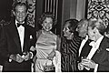 Robert Cummings, Judy Canova, ?, Fritz Feld, Virginia Christine (4506015336).jpg