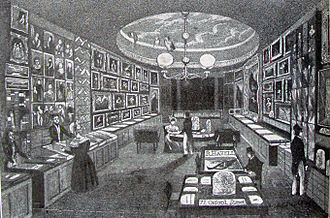 Havell family - Robert Havell Jr.'s shop, The Zoological Gallery, at 77 Oxford Street, London (opened in 1831)