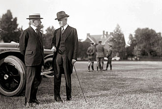 John W. Davis - Davis (right) and Secretary of State Robert Lansing in 1917