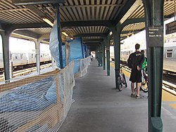 Rockaway Park - Beach 116th Street Station under reconstruction; 2007.jpg