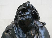 Tête d'un bronze en pied