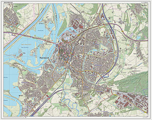 Roermond - Dutch Topographic map of Roermond (town), as of March 2014