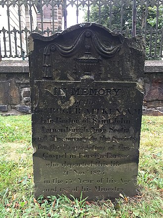 United Society Partners in the Gospel - Missionary Rev. Roger Aitken (d. 1825), Old Burying Ground (Halifax, Nova Scotia)