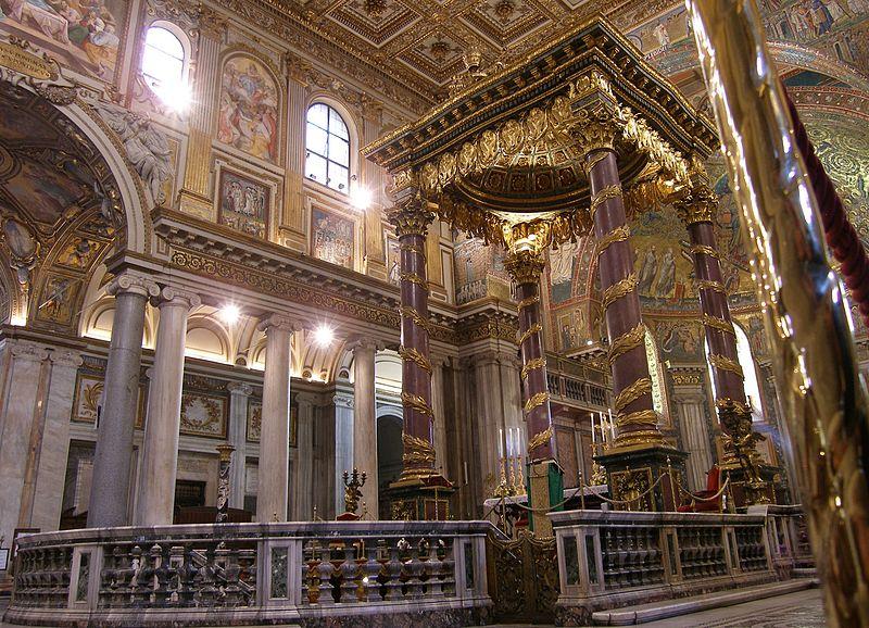 Rom, Santa Maria Maggiore, Papstaltar 1.jpg