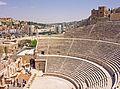 Roman theater in Amman from upper seats.jpg