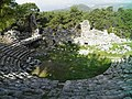 Roman theatre, built in the 2nd century on the foundations of the earlier Greek Hellenistic theatre, it had a capacity of around 2000 people, Phaselis, Lycia, Turkey (9643006159).jpg
