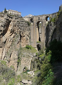 """El Tajo"" of Ronda, with the Puente Nuevo in the background"