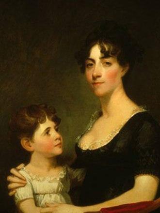 George Calvert (planter) - Calvert's wife, Rosalie Stier Calvert and their eldest daughter Carolina Maria, painted by Gilbert Stuart in 1804.