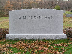 A. M. Rosenthal - The headstone of A.M. Rosenthal in Westchester Hills Cemetery