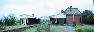 Ross-on-Wye railway station - The derelict Ross-on-Wye station in September 1974.