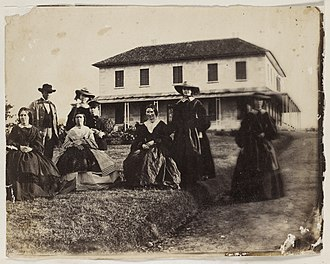 Rouse Hill, New South Wales - Rouse family in front of Rouse Hill House, in 1859.