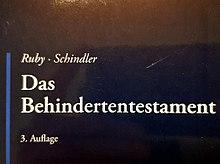 Ruby, Schindler, Das Behindertentestament, 3. Aufl., 2018
