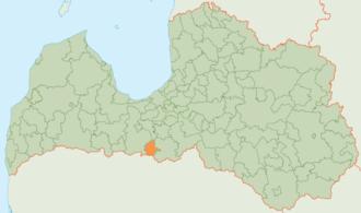 Rundāle Municipality - Image: Rundāles novada karte