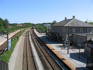 railway station in Hørsholm Municipality, Denmark