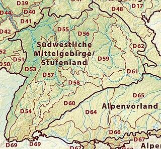 South German Scarplands natural region of Germany