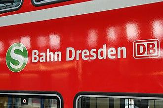 Dresden S-Bahn - Logo of the Dresden S-Bahn on a double-deck carriage
