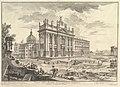 S. Giovanni in Laterano, main façade, with Palace and Scala Santa on the right (Veduta della Basilica di S. Giovanni Laterano) MET DP828310.jpg