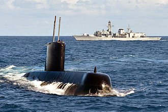 Type 209 submarine - South Africa's ''Charlotte Maxeke'' with Britain's HMS Portland in 2014